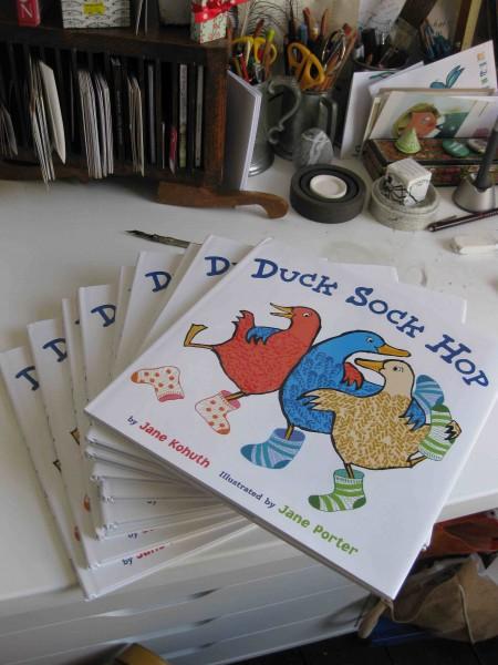 a teetering pile of ducks and socks jane porter author