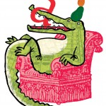 A is for Alligator in an Armchair